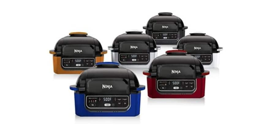 Ninja Foodi IG302Q 5-in-1 Indoor Electric Countertop Grill with 4-Quart Air Fryer, Dehydrate, & Cyclonic Grill (refurb) for $119.99 + FS w Prime