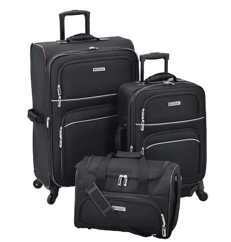 Leisure Getaway II 3-Piece Spinner Luggage Set (Orig $300.00  $90 AC W/Kohl's Charge)