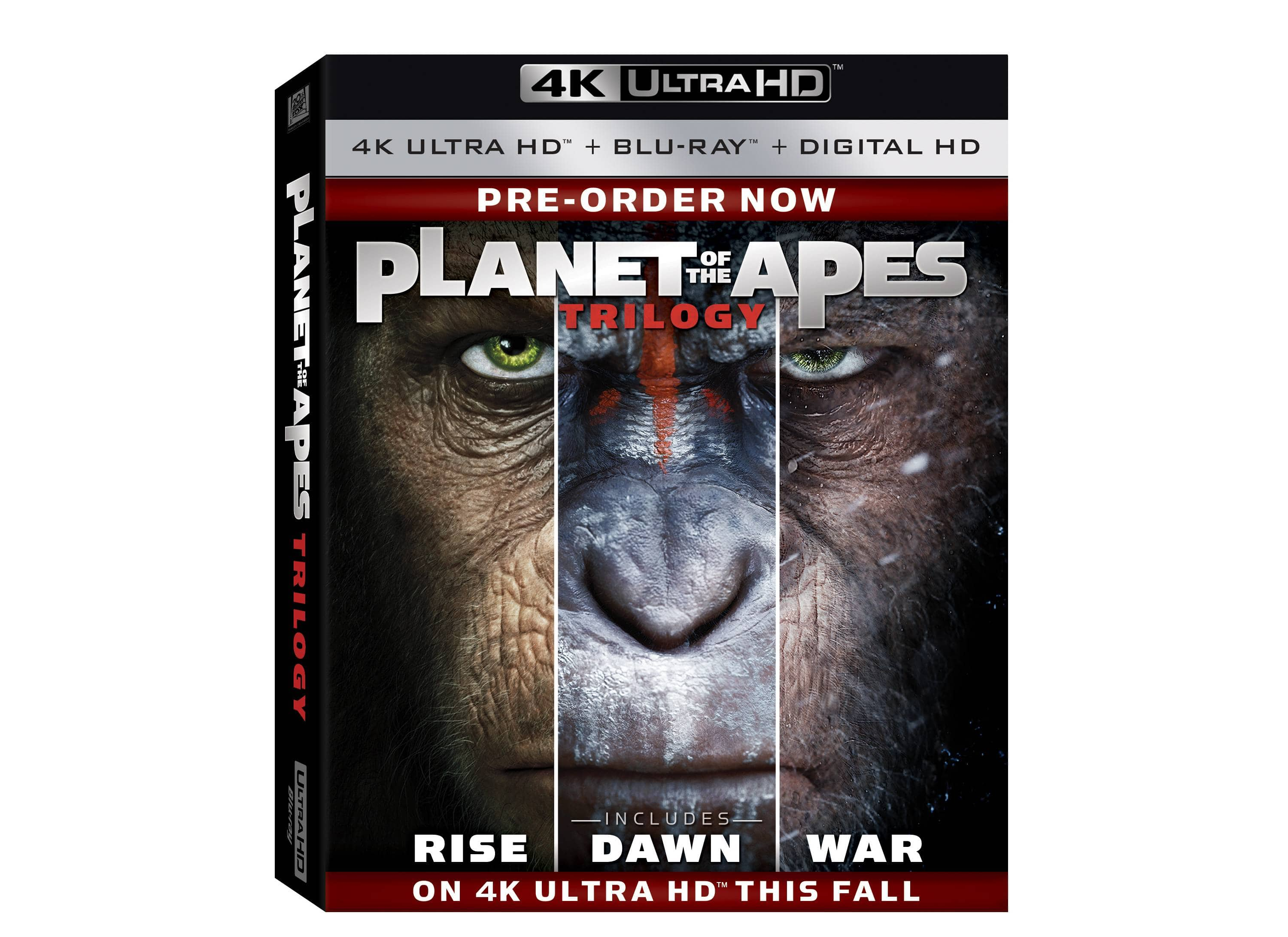 Planet Of The Apes Trilogy (4K/UHD + Blu-ray + DVD + Digital) - $49.99
