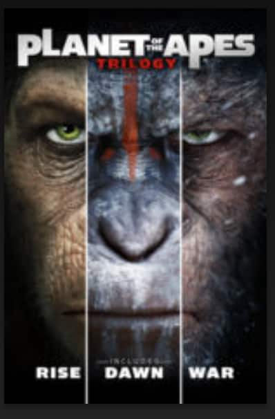 Planet of the Apes Trilogy (Rise/Dawn/War) 4K Digital iTunes ($29.99)