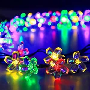 Flower Garden Light 21ft 50 LED Multi Color Blossom Lighting for $7.99