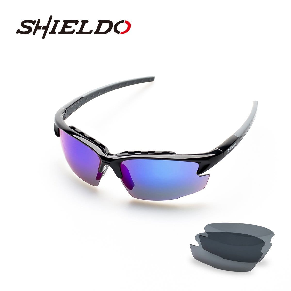 SUNGLASSES polarized interchangeable lenses (by SHIELDO) $15.99 AC sports fishing running 47% OFF golf cycling FREE SHIPPING (prime or FSSS) @ amazon