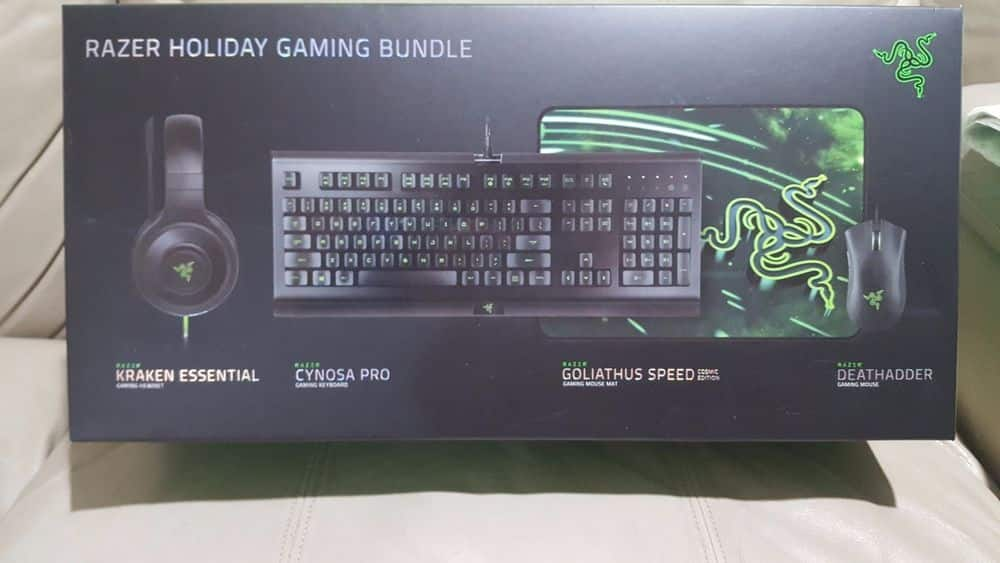 17430dd6297 Razer 4-Piece Gaming Bundle - Includes Cynosa Pro Keyboard, DeathAdder  Mouse, Kraken Headset, and Goliathus Mouse Pad