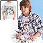 Disney Boys' Colorable Toy Story T-Shirt $3 + free shipping@GearXS