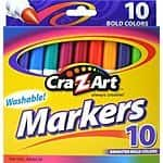 Cra-Z-Art Bold Washable Marker 10-Count Box 50 cents w/ $25 purchase + free shipping w/ Prime