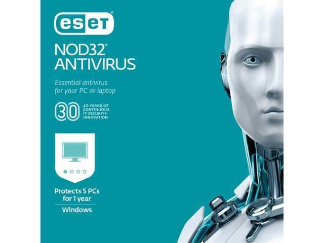 ESET NOD32 Antivirus 2019 - 5 PCs (Product Key Card) with Code $25