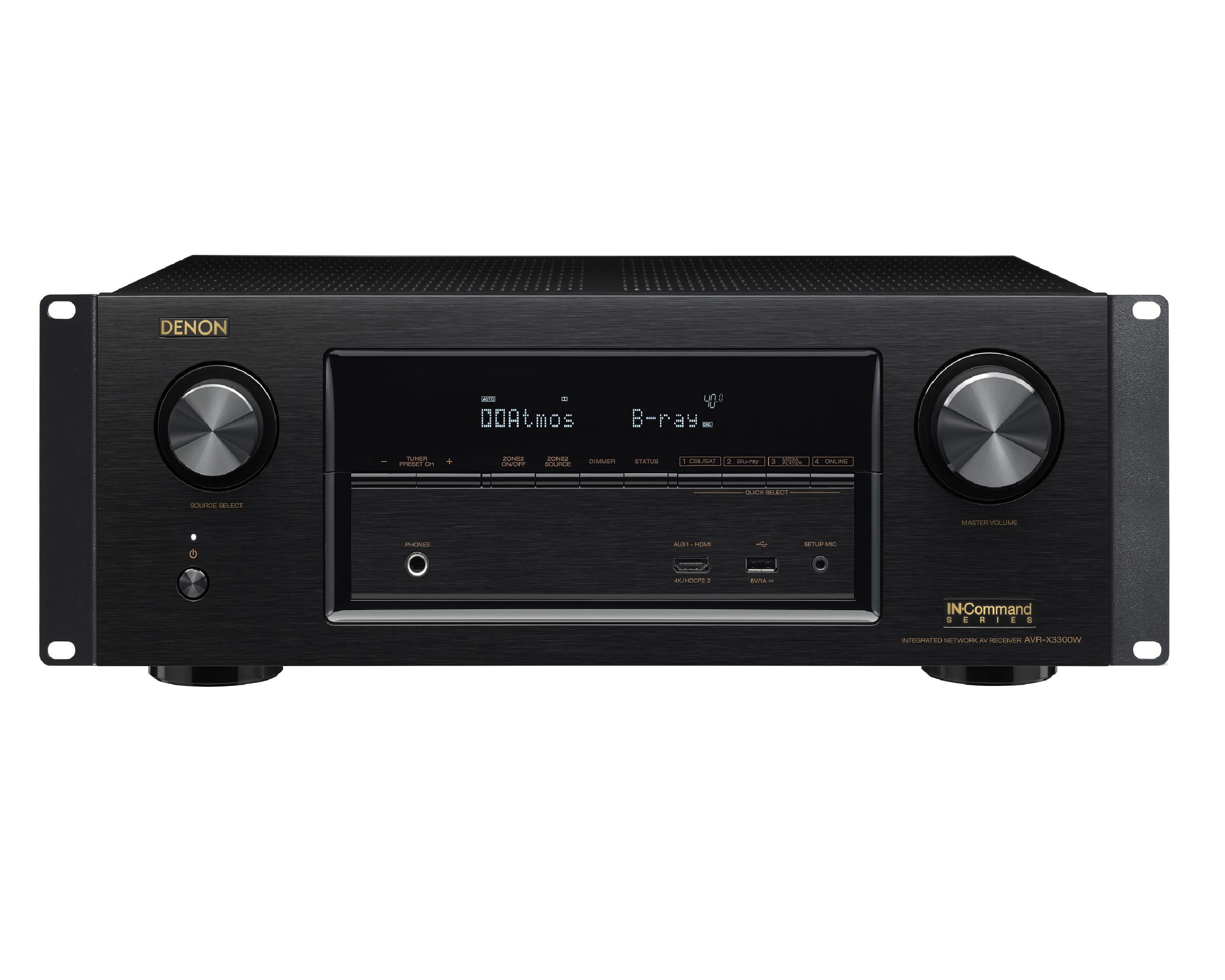 $529.99 + 5$ ship/tax Denon Professional DN-AVRX3300 7.2 Channel AV Surround Receiver with Wi-Fi, Bluetooth, Ethernet Connectivity and Rack through Amazon via Woot.com