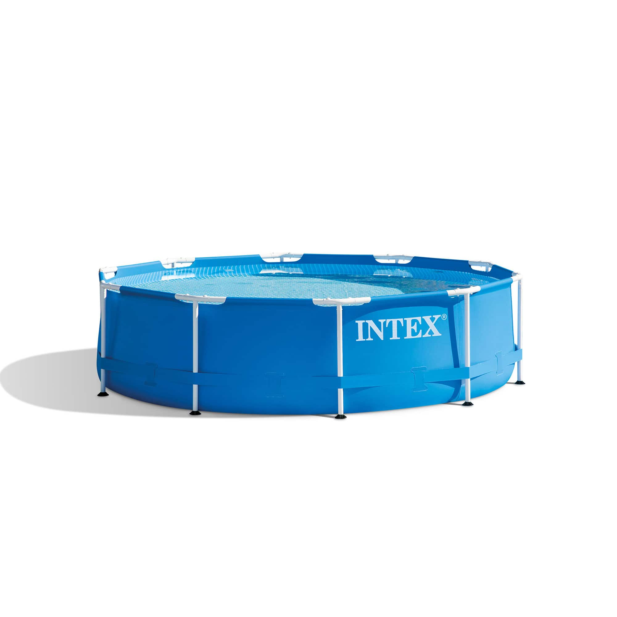 """Intex 10' x 30"""" Metal Frame Above Ground Swimming Pool with Filter Pump - $249.99 at Walmart"""