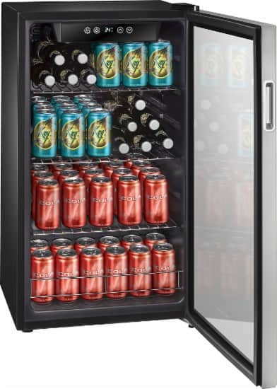 Insignia 115-Can Beverage Cooler - Stainless steel = $230 @BestBuy ($70 off)