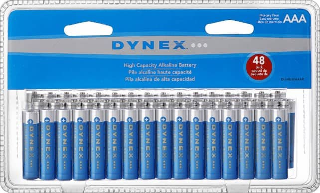 Dynex™ - AAA Batteries (48-Pack) $8 and AA (48 pack) $9 @BestBuy