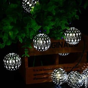 Solar Powered Lights: String Globe Lanterns - $5.20 & Outdoor Waterproof Warm White LEDs - $6.40 + Free Shipping with Prime