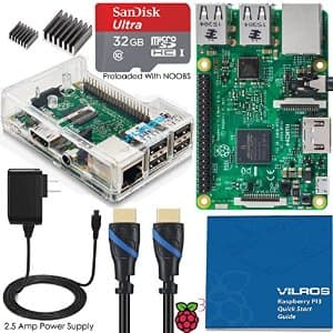 Vilros Raspberry Pi 3 Complete Starter Kit with Clear Case + 32GB SD Card - $56.99 + Free Shipping with Prime