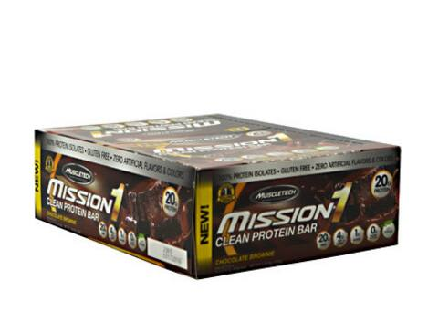 24-Ct MuscleTech Mission1 Chocolate Brownie Protein Bars - $22 + Shipping at Supplement Hunt
