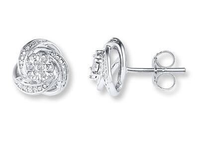 1/20 CT Diamond in Sterling Silver Earrings - $29.99 + Free Shipping from Kay