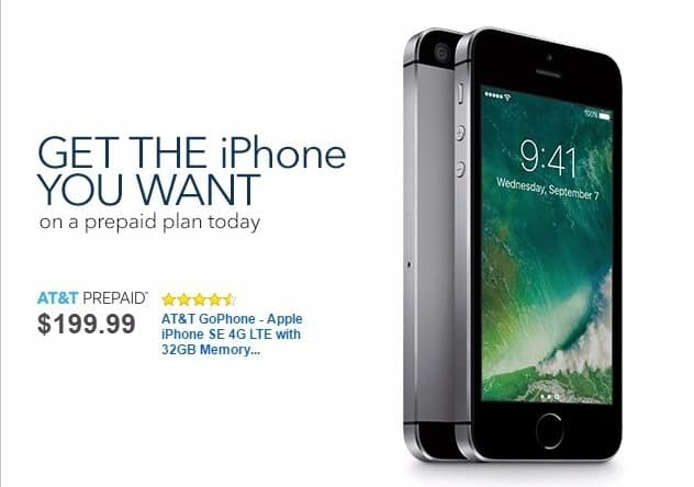 Best Buy Weekly Ad: AT&T Prepaid iPhone SE for $199.99