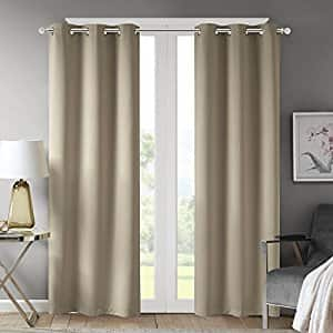"""Pair of Solid Taupe 42""""x63"""" Comfort Spaces Blackout Curtains - $17.49 + Free Prime Shipping"""