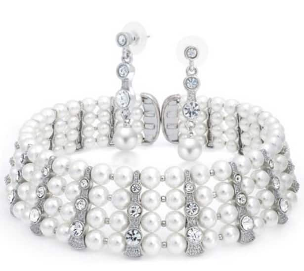 Crystal Drop Earrings & Choker Set - $22.50 + Free Shipping at Bling Jewelry