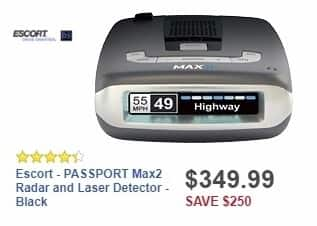 Best Buy Weekly Ad: Escort - PASSPORT Max2 Radar and Laser Detector - Black for $349.99