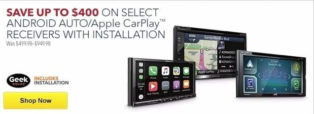 Best Buy Weekly Ad: Save Up to $400 on Select Android Auto/Apple CarPlay Receivers with Installation for $299.98