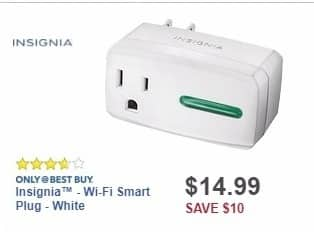 Best Buy Weekly Ad: Insignia™ - Wi-Fi Smart Plug - White for $14.99