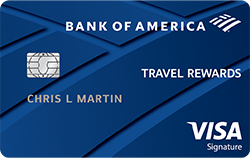 Bank of America® Travel Rewards Visa® credit card: Unlimited 1.5 points per $1 spent on all purchases