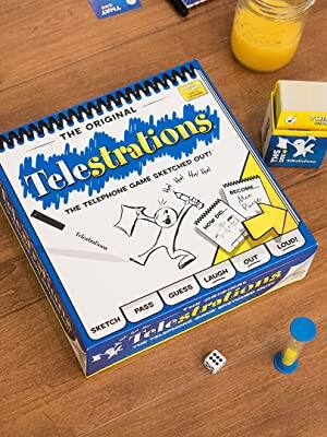 USAOPOLY Telestrations Original 8 Player, Family Board Game $11.96