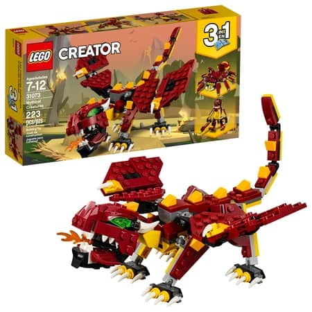 LEGO Creator 3in1 Mythical Creatures 31073 Building Kit (223 Piece) $11.99  (reg.$14.99)