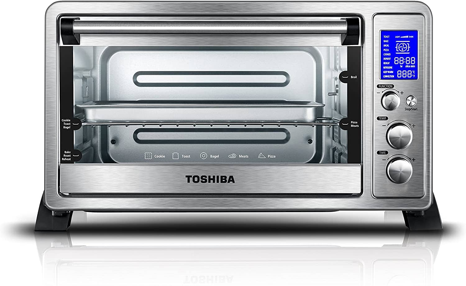 Toshiba AC25CEW Convection toaster oven $63.99 Free Shipping  - Black Steel