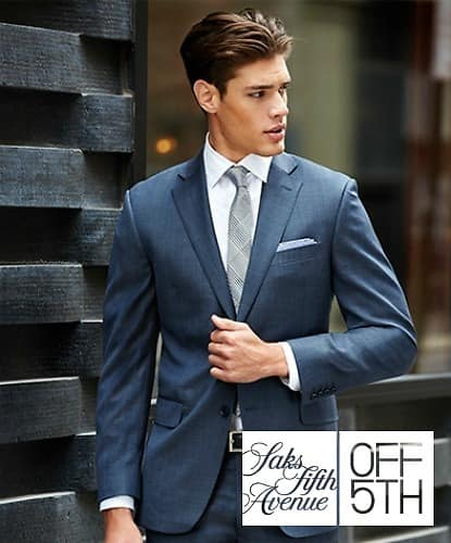 Saks Fifth Avenue Men's suits, sportcoats, & dress pants buy one, get one free! Start from $99.99 + Free Shipping