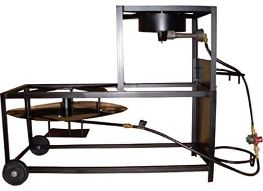 King Kooker 94/90TKD Portable Dual-Burner Propane 30-Inch Patio Cart - Prime shipping $86.31