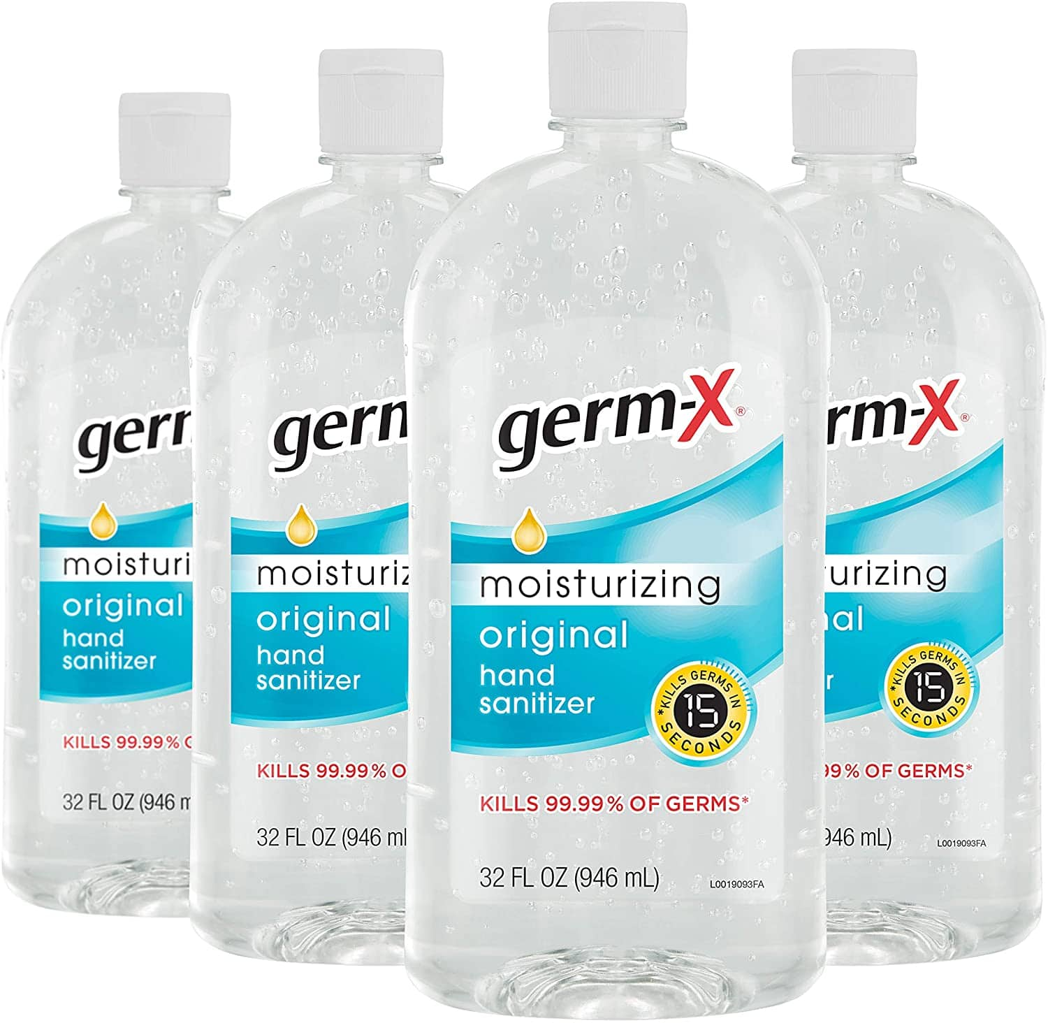 Germ-X Hand Sanitizer, Original, 32 Fluid Ounce (Pack of 4) @ Amazon for $17.99