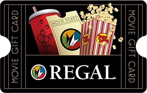Regal Entertainment - Buy $50 eGift card get $15 promotional gift card - one day only