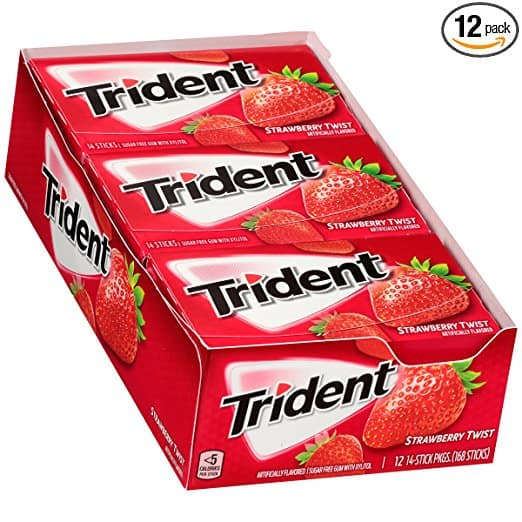 Amazon.com - Trident Sugar Free Gum, 14 Count (12 Pack) (Multiple Varieties) - As low as $5.55 with Free Shipping w/S&S