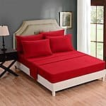 6PC microfiber Bedding, Deep Pocket Bed Sheet Set $19.99+ @Amazon
