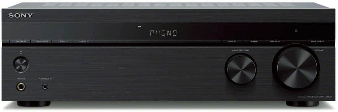Amazon.com: Sony STRDH190 2-ch Home Stereo Receiver with Phono Inputs & Bluetooth: Electronics