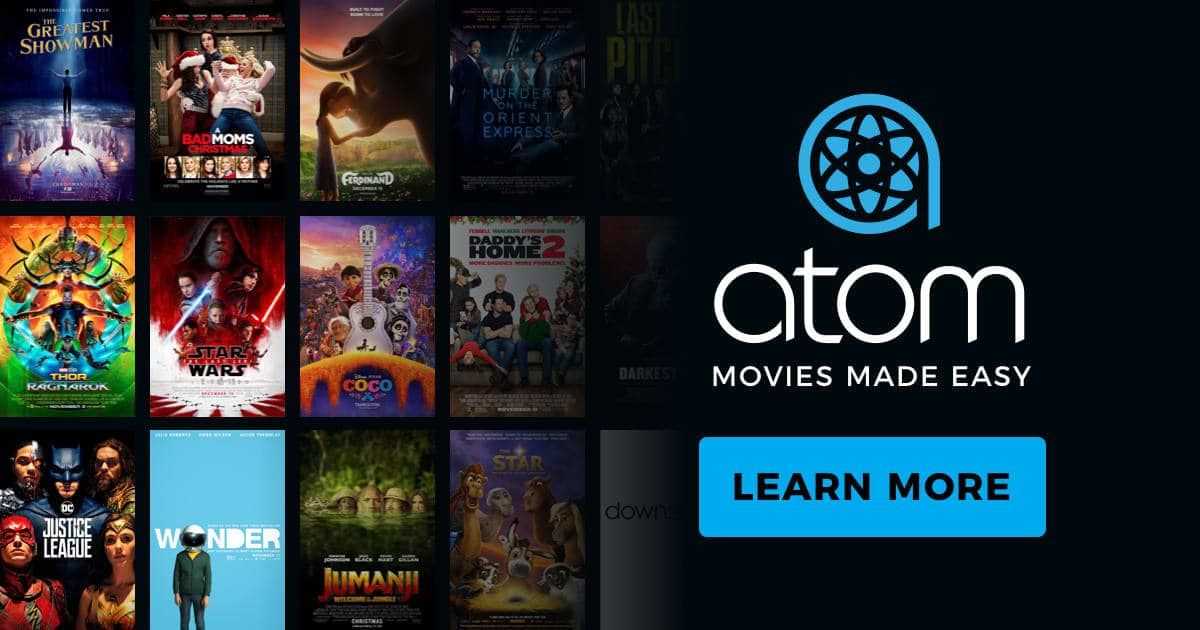 Buy One Ticket Get One Free (BOGO) To Any Movie via Chase Pay on Atom Tickets