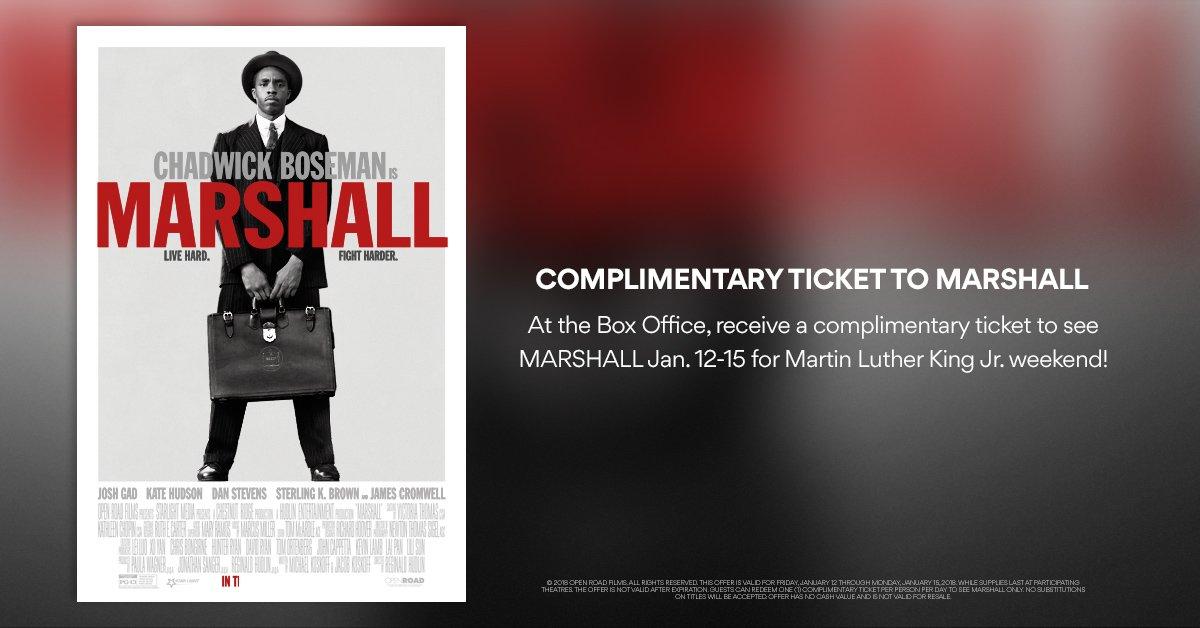 AMC Theaters: Free Movie Ticket to Marshall