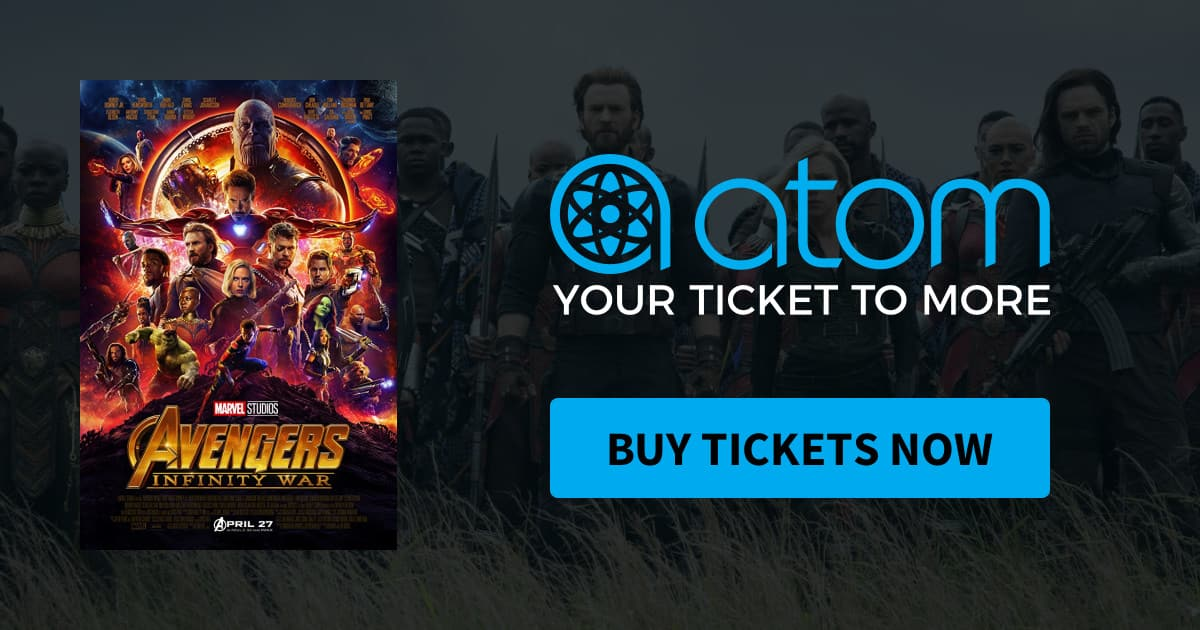 Atom Movie Ticket: $5 Off Avengers: Infinity Wars (New Users via APP)