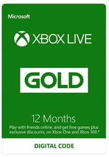 12 Month Microsoft Xbox Live Gold Membership (Email Delivery) $42.90