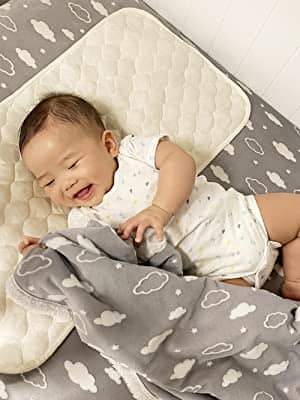 American Baby Company Heavenly Soft Chenille Sherpa Receiving Blanket 3D for $10.86 with 20% coupon