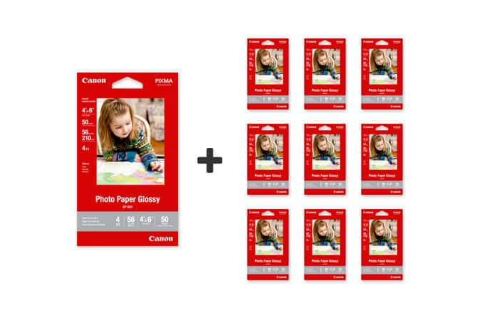 10-for-1 Canon photo paper glossy deal