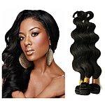 Amazon 35% off for 6A Unprocessed Brazilian Virgin Remy Human Hair 3 Bundles 300g