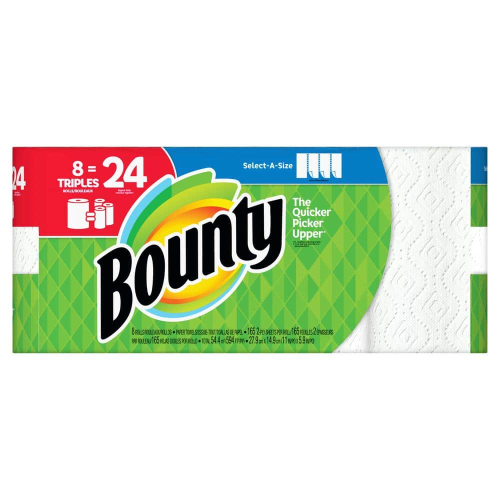 24-Ct Bounty Select-A-Size Triple Rolls (72 Reg Roll) Paper Towels $50 + Free S&H