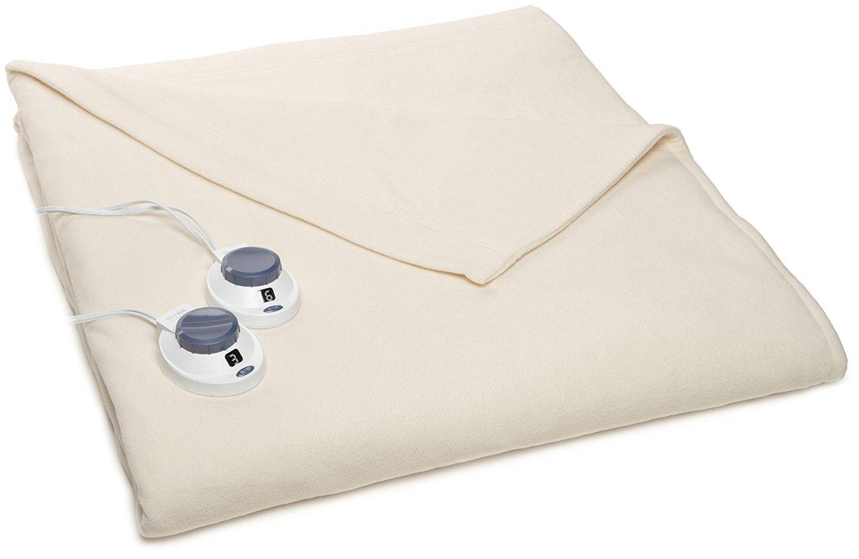 Soft Heat Luxury Micro-Fleece Low-Voltage Electric Heated Queen Size Blanket, Natural - 42.00 - Amazon