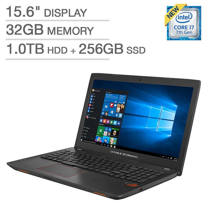 ASUS ROG GL553VE Laptop  7th gen i7, 32GB RAM, 1TB HDD + 256GB SDD $1,249.99 After $250 OFF + $14.95 Shipping