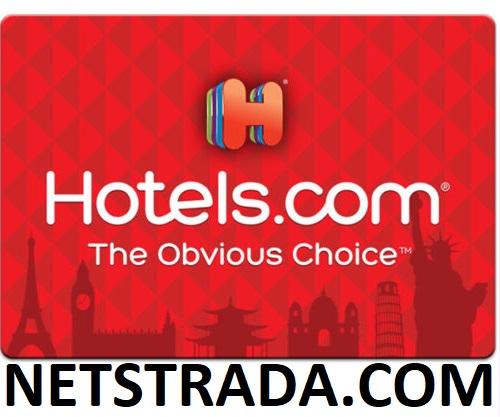 Hotels.com $100 Gift cards 10% OFF on Netstrada.com $89.99