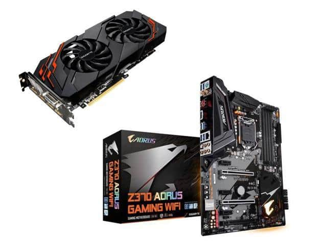 GIGABYTE GeForce GTX 1070 8GB WINDFORCE OC and GIGABYTE Z370 AORUS GAMING Mobo $630