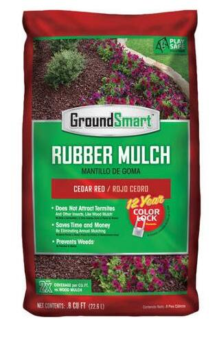 Rubber Mulch (98 bags/0.08 cu ft), 78.4 cu ft $5.92 + FREE store pu