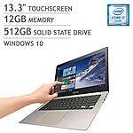 "ASUS Zenbook: i7-6500U, 13.3"" 3200x1800, 12GB DDR3, 512GB SSD, Nvidia GT940M  $1075 or Less"