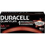 Duracell Battery Quantum Alkaline AA Batteries (24-pk.) - $9.99 FS w/ Rewards @ Staples